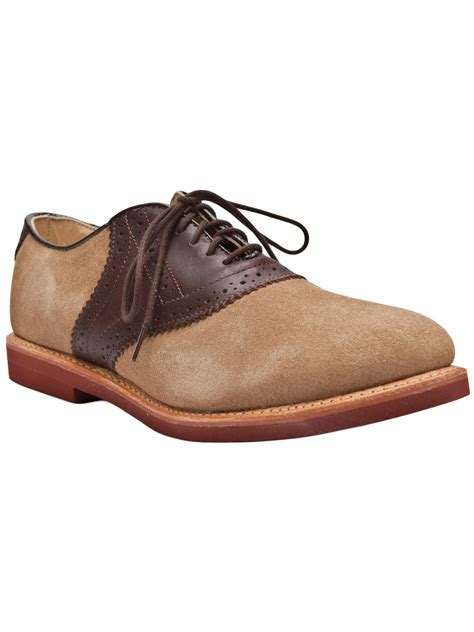 walk suede saddle shoe in brown for chocolate