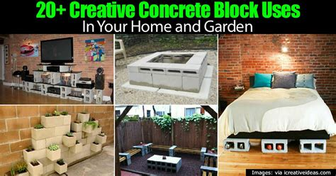 20 creative concrete block uses in your home and garden