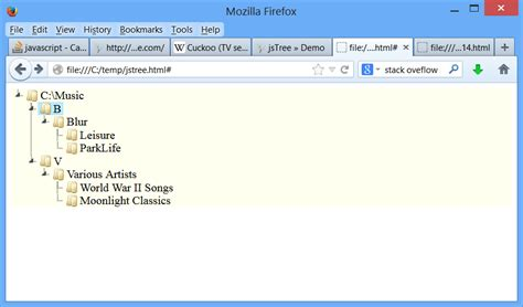 jstree themes exles javascript can i display file structure in html 4 with