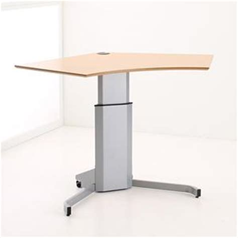 Height Adjustable Corner Desk Mimek Electric Height Adjustable Corner Desk