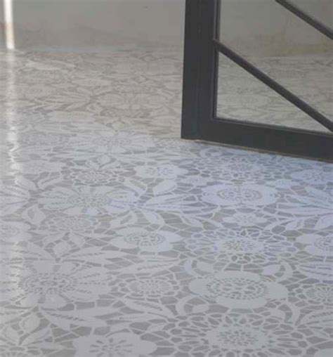 skylar s lace floor stencil the style files