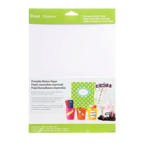 printable vinyl sticker paper cricut printable sticker paper white 8 5 quot x 11 quot 12 pack