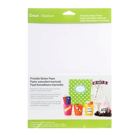 printable sticker paper cricut printable sticker paper white 8 5 quot x 11 quot 12 pack