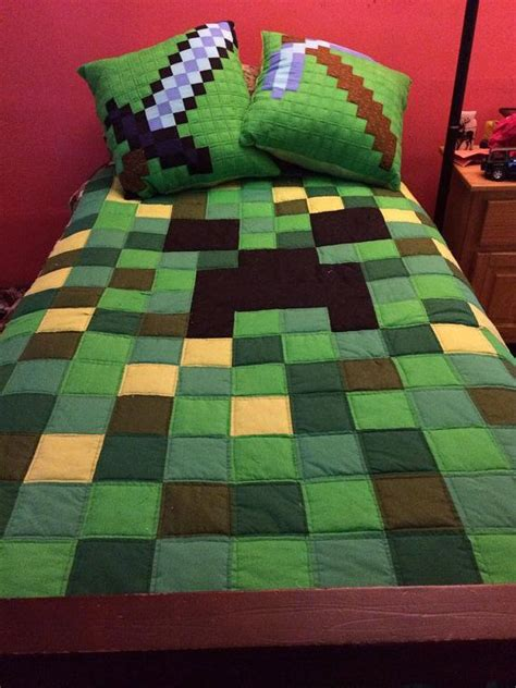 minecraft bedding for kids 27 etsy finds that kids would love neatorama