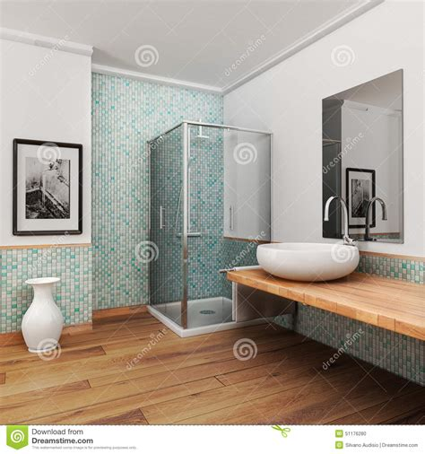 Large bathroom stock illustration image 51176280