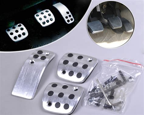 Pedal Pads Racing Isi 1 sport fuel brake racing mt pedals pads for peugeot 206 206cc 207 ebay