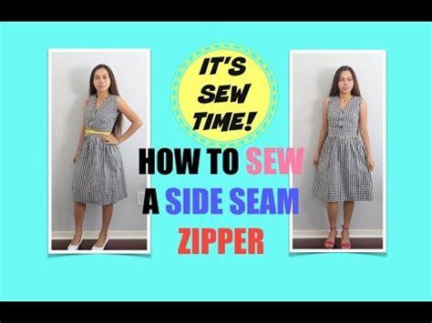 Taniya Zipper Dress Hq How To Sew A Side Seam Zipper On A Dress