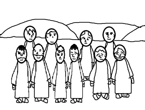 free jesus heals lepers coloring pages
