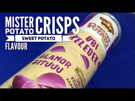 mister potato ubi ungu 80g mister potato crisps sweet potato flavour ubi keledek