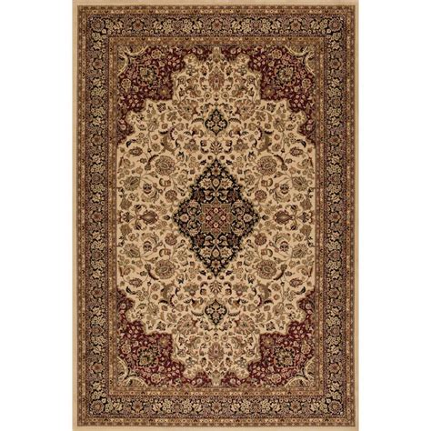 Concord global trading persian classics medallion kashan ivory 5 ft 3 in x 7 ft 7 in area
