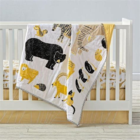 Black And Yellow Crib Bedding Urbanoutfitters Gt Chenille Coverlet
