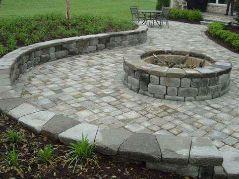 Paver Patio Pit Firepit Patio Ideas Paver Patio Designs With Fire