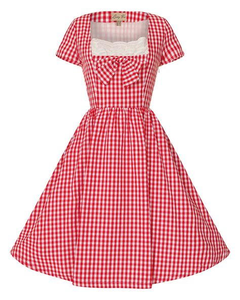 gingham swing dress clementina red gingham swing dress