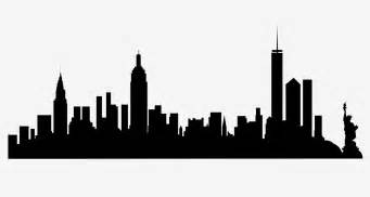 Cityscape Vector Outline by New York City Skyline Silhouette Free Svg