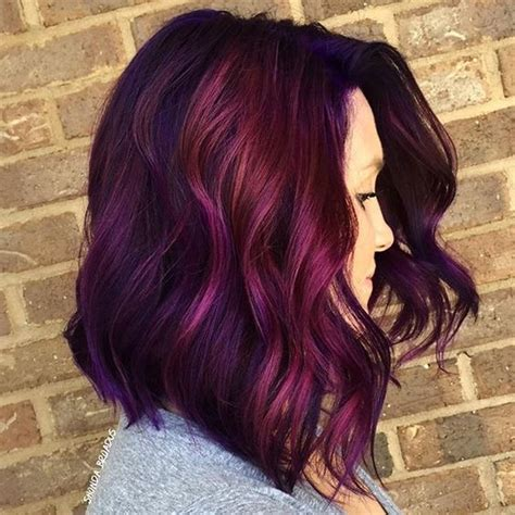 how to get purple hair color 25 magenta hair ideas to stand out styleoholic