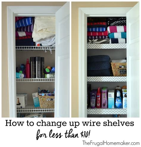 Bathroom Wall Covering Ideas How To Change Up Wire Shelves For Less Than 10