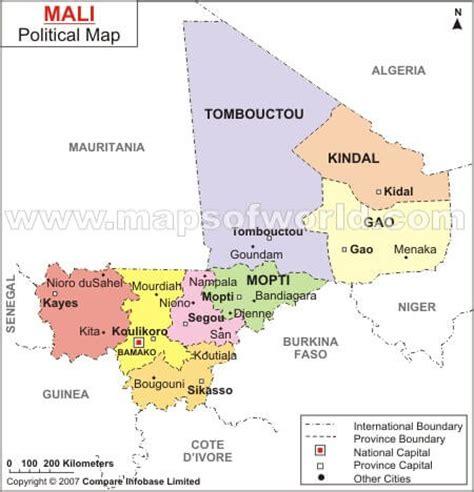political map of mali mali map