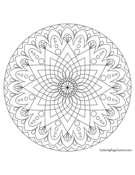 round mandala coloring pages mandala circle 01 coloring page coloring page central