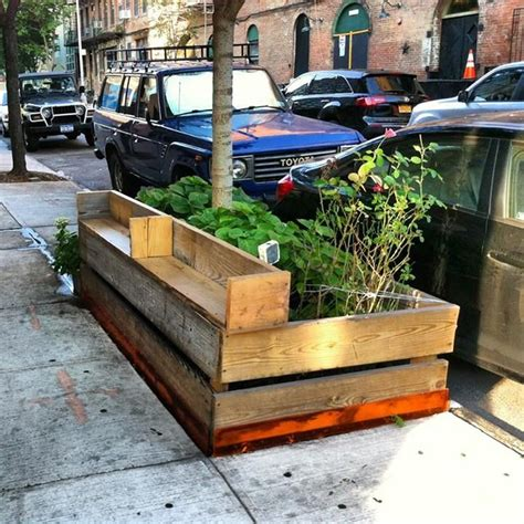 raised garden bed with bench seating diy urban bench city planter maybe a larger seating