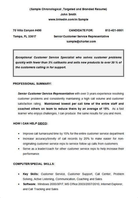 chronological resume template 23 free sles exles