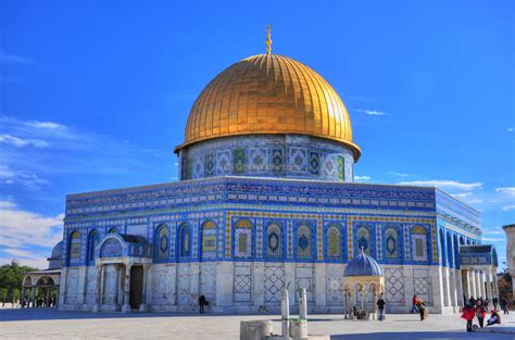 Dome For dome of the rock shrine jerusalem