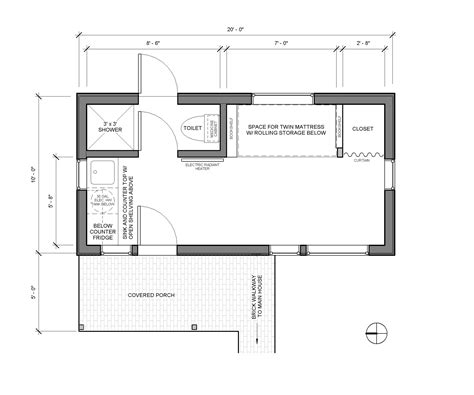 500 Sq Ft Studio Floor Plans by Detached Bedroom As Tiny Home Accessory Dwellings