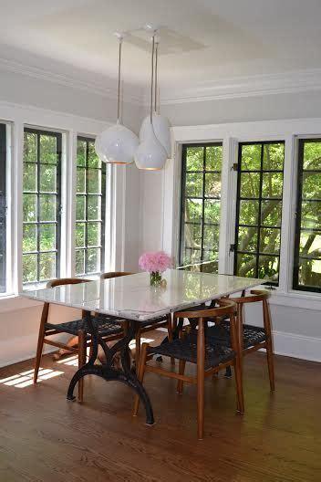 kitchen remodel black window frames