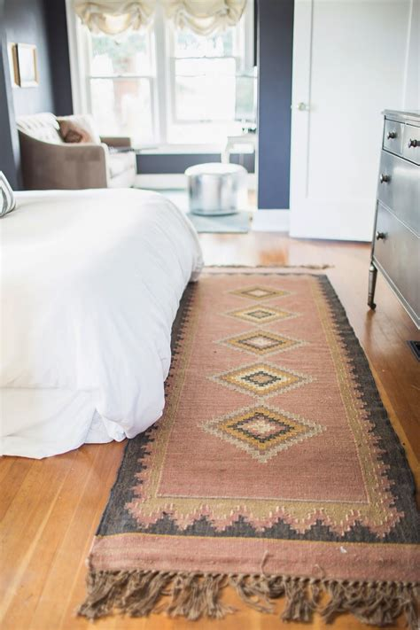 bedroom runner rug santa fe rug loved the muted colors pairs perfectly with