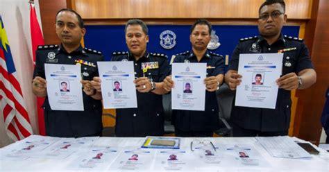 polis dedahkan  penjenayah  bahaya  dikehendaki