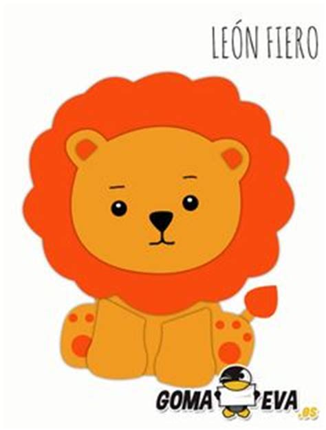 molde para goma eva de leon http www goma eva es fofucha jirafa varios originles