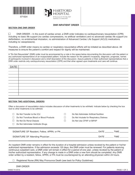 connecticut   resuscitate dnr order form  eforms  fillable forms