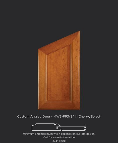 angled top cabinet door taylorcraft cabinet door company - Angled Cabinet Doors
