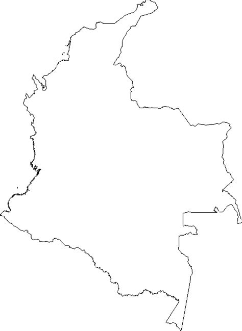 blank outline map  colombia