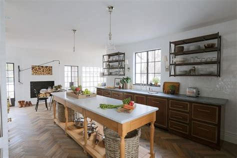 eclectic kitchen designs eclectic kitchen design herringbone floor home