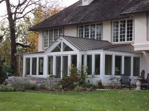 Rear Porch traditional sunroom addition exterior traditional