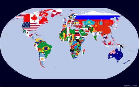 map world flags map of world with flags