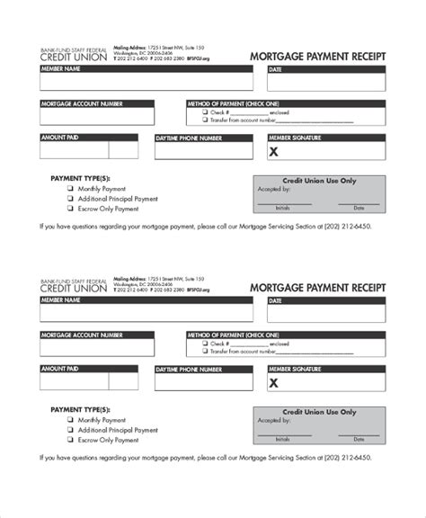 mortgage payment receipt template 31 payment receipt sles pdf word excel pages