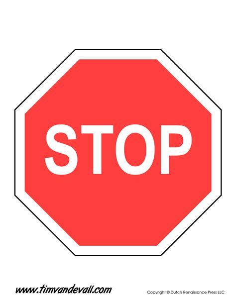 stop sign template tim s printables