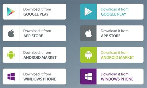 app store android free free app market buttons psd titanui