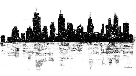 skyline by laura gomez painting by laura gomez