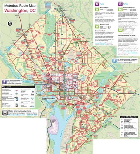 washington dc map surrounding areas large detailed metro and map of washington d c