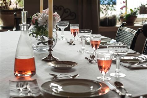 Glasses Table Setting Peony Season Table Setting With In Wine Glasses Laundry Kitchen