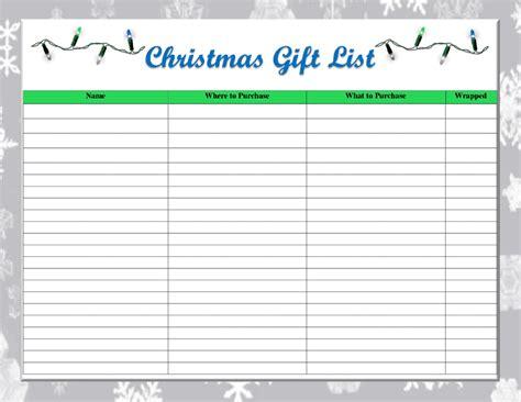 printable christmas gift shopping list one thrifty space free printable christmas gift list