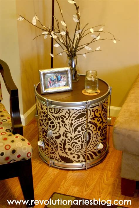 diy indian home decor diy stenciled drum table awesome home decor project