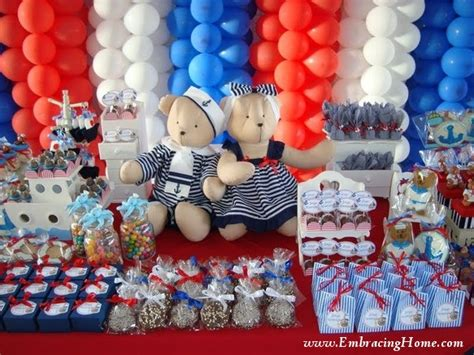 nautical baby shower decorations for home southern blue celebrations nautical party ideas