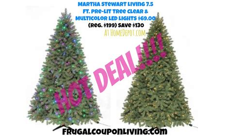 martha stewart alexander 75 ft christmas tree reviews martha stewart living 7 5 ft pre lit pine tree 69 reg 200