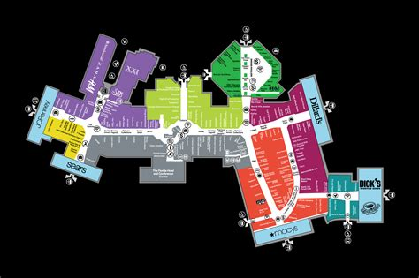 florida mall floor plan mall map of the florida mall 174 a simon mall orlando fl