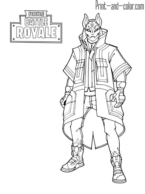 Max D Coloring Pages by Fortnite Battle Royale Coloring Page Drift Max Level