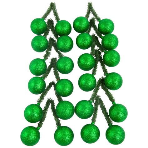 tinsel ties 6 quot green tinsel tie with 50mm glitter emerald green