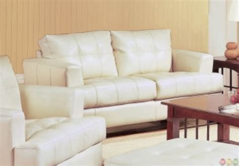 samuel cream bonded leather living room couch and loveseat samuel cream bonded leather living room couch and loveseat